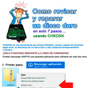 Como revisar y reparar un disco duro con errores en Windows