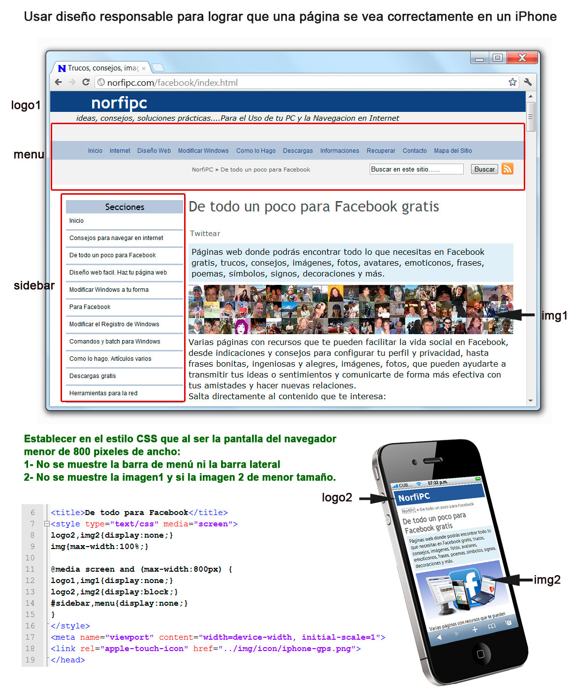 Como usar el dise o responsable o adaptable en un sitio web for Paginas de chimentos argentina
