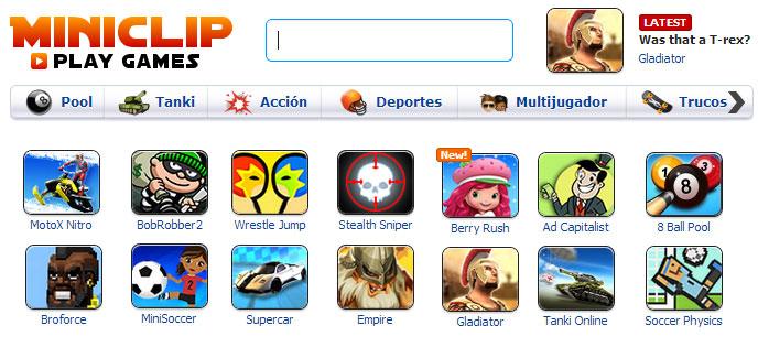 Las páginas y sitios más populares de juegos en español en internet