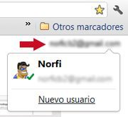 Logged en Google Chrome