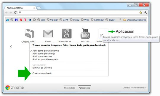 Guardar una aplicacion creada con Google Chrome