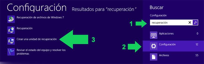 Como recuperar Windows 8 desde una memoria USB