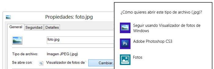 Cambiar el programa o aplicación que abre un archivo manualmente