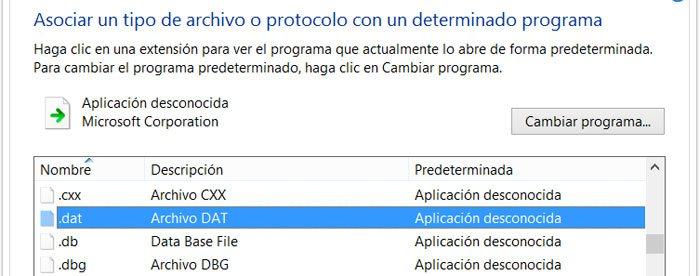 Cambiar el programa o aplicación que abre un archivo en el Panel de control