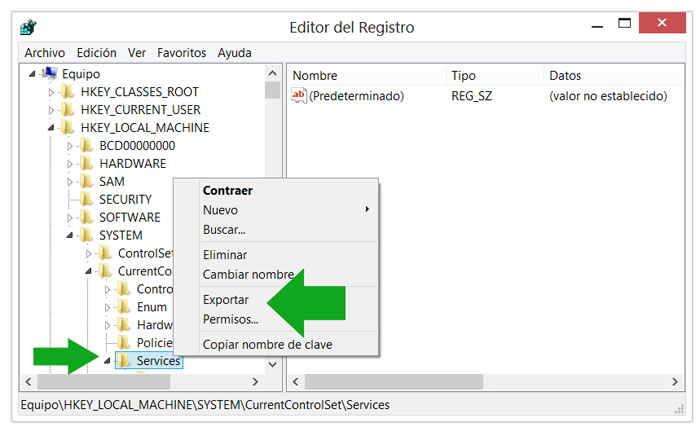 [Imagen: exportar-clave-servicios-regedit.jpeg]