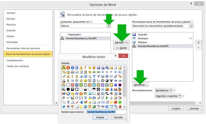 editor de visual basic en word: