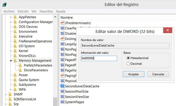 Como modificar los valores en el Registro de Windows para optimizar la memoria