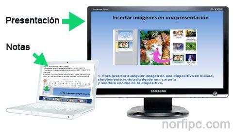 Ver las páginas de notas al reproducir una presentación de diapositivas en PowerPoint