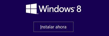 Primer paso para instalar Windows 8