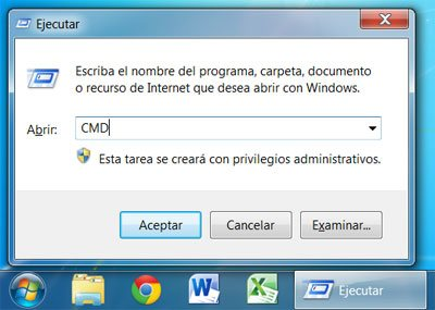 Abrir la consola de CMD en Windows 7 con privilegios de administrador