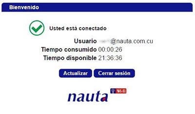 Pantalla de Bienvenida de Nauta