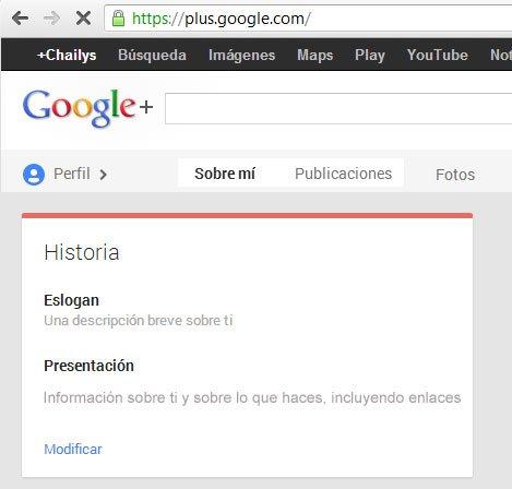 Editar y agregar informacion a un perfil en Google