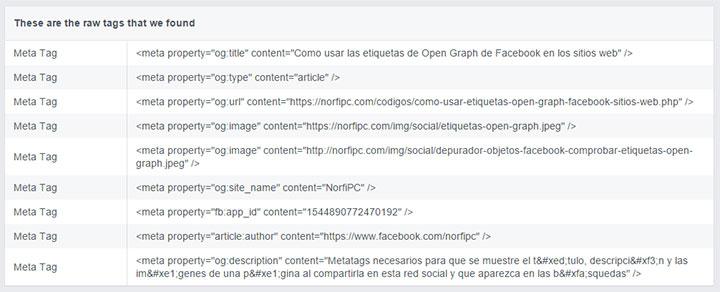 Como usar las etiquetas de Open Graph de Facebook en los sitios web