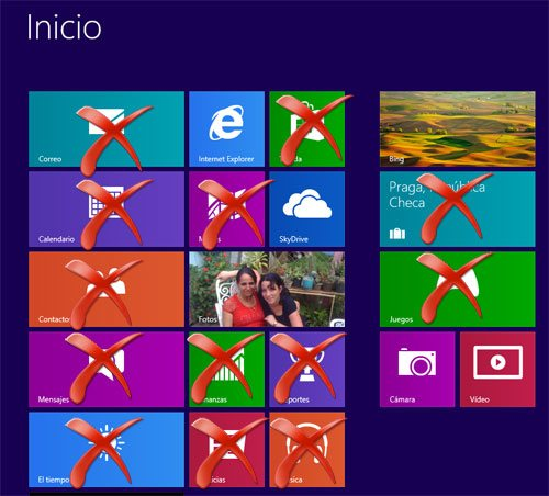 Aplicaciones que se pueden desactivar en Windows 8