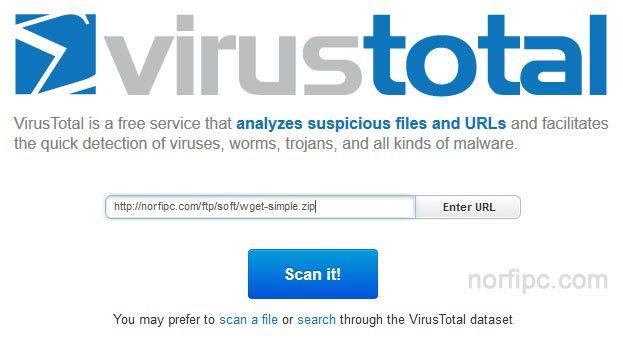 Analizar el link o enlace de descarga de un archivo antes de descargarlo con Virus Total