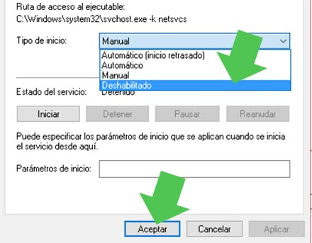 Deshabilitar Windows Update en Windows 10, mediante Servicios