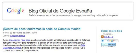 Blog de Google España