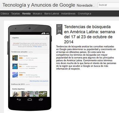 Blog de Tecnología y Anuncios de Google