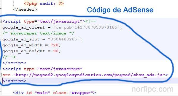 Como insertar anuncios de AdSense en WordPress