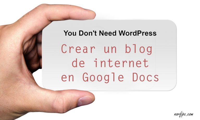 Crear un blog sencillo sin WordPress ni Blogger