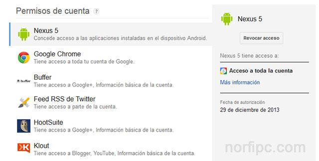 Aplicaciones que acceden a nuestra cuenta de Google