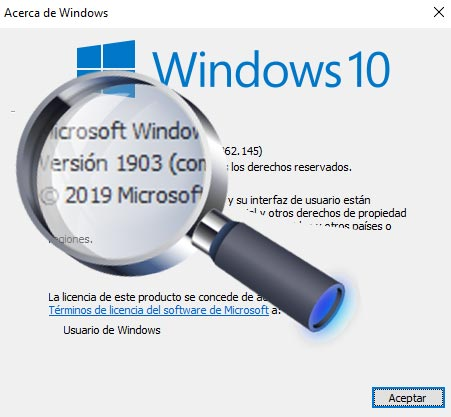 Saber con Winver la versión de Windows instalada