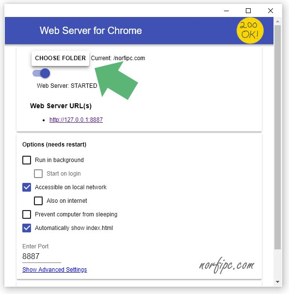 Web Server for Chrome