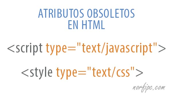 Atributos obsoletos e innecesarios en HTML