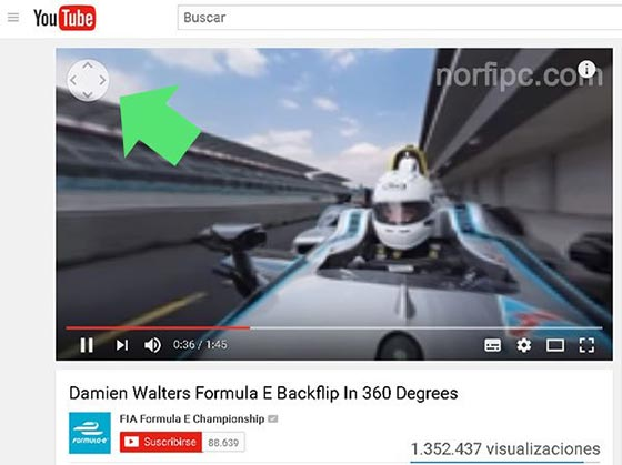 Video de 360 grados de YouTube en el navegador web